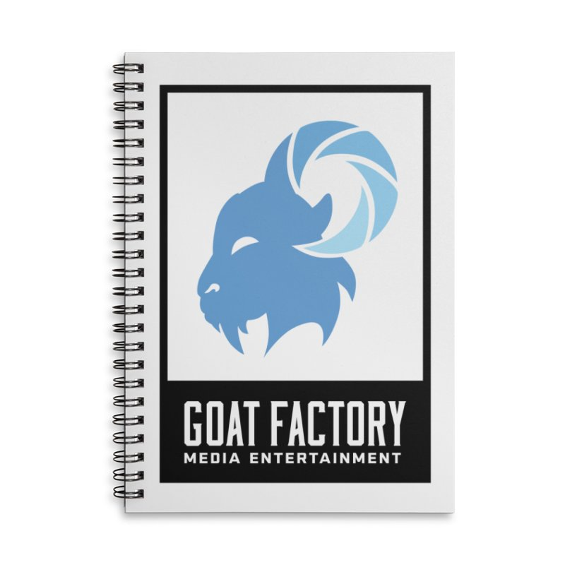 New Goat with boxing Accessories Notebook by GFMEDIA - Goat Town Mall