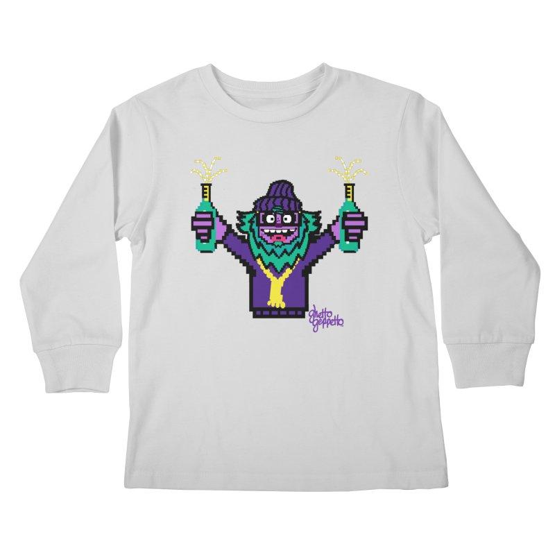 HOOD WINS Kids Longsleeve T-Shirt by ghettogeppetto's Artist Shop