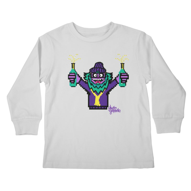 HOOD WINS Kids Longsleeve T-Shirt by ghettogeppetto's Artist Shop