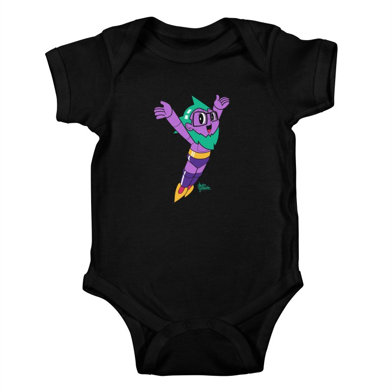 ASTRO FOOT Kids Baby Bodysuit by ghettogeppetto's Artist Shop