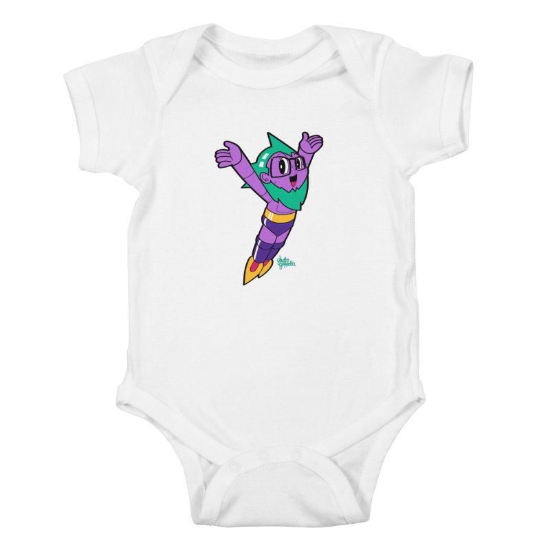 ASTRO FOOT Kids Baby Bodysuit by ghettogeppetto's Artist Shop