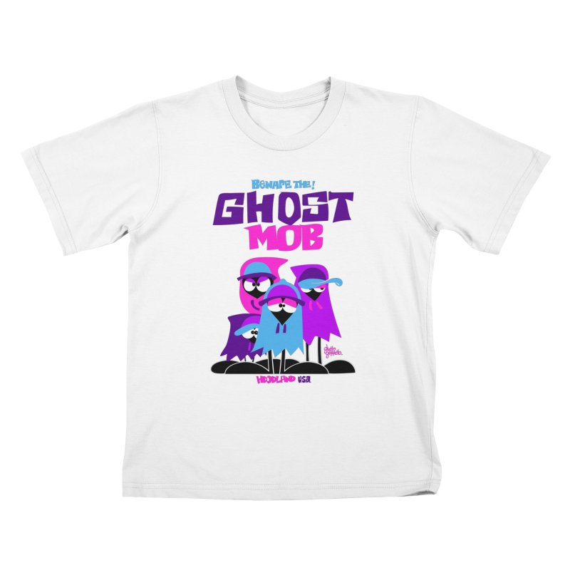 BEWARE THE GHOST MOB Kids T-Shirt by ghettogeppetto's Artist Shop