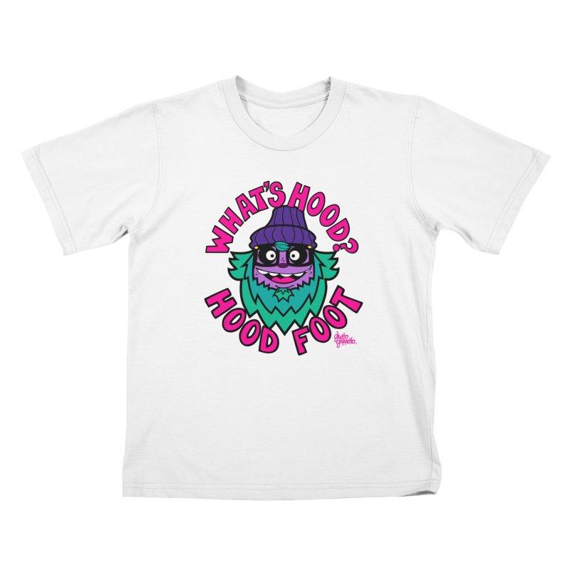 WHAT'S HOOD ? Kids T-Shirt by ghettogeppetto's Artist Shop