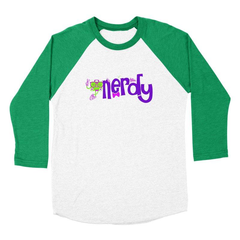 NERDY Women's Baseball Triblend Longsleeve T-Shirt by ghettogeppetto's Artist Shop