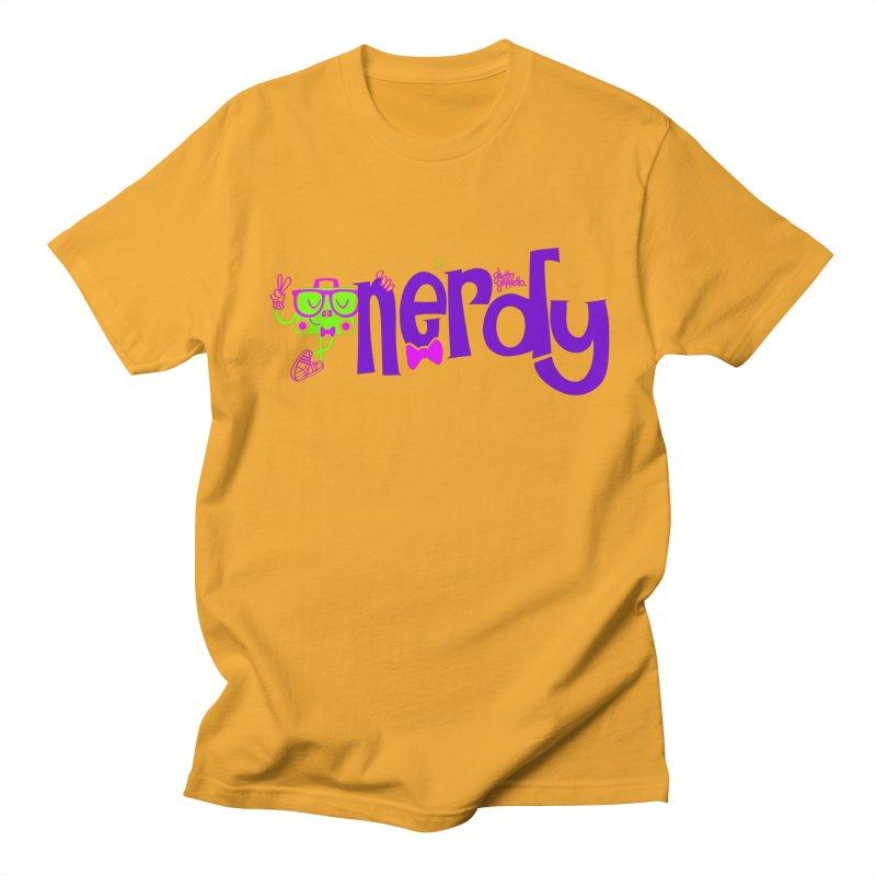 NERDY Men's T-shirt by ghettogeppetto's Artist Shop
