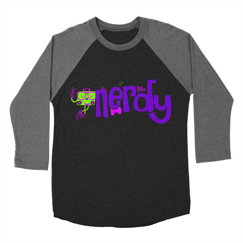NERDY Women's Baseball Triblend Longsleeve T-Shirt by ghettogeppetto's Artist Shop