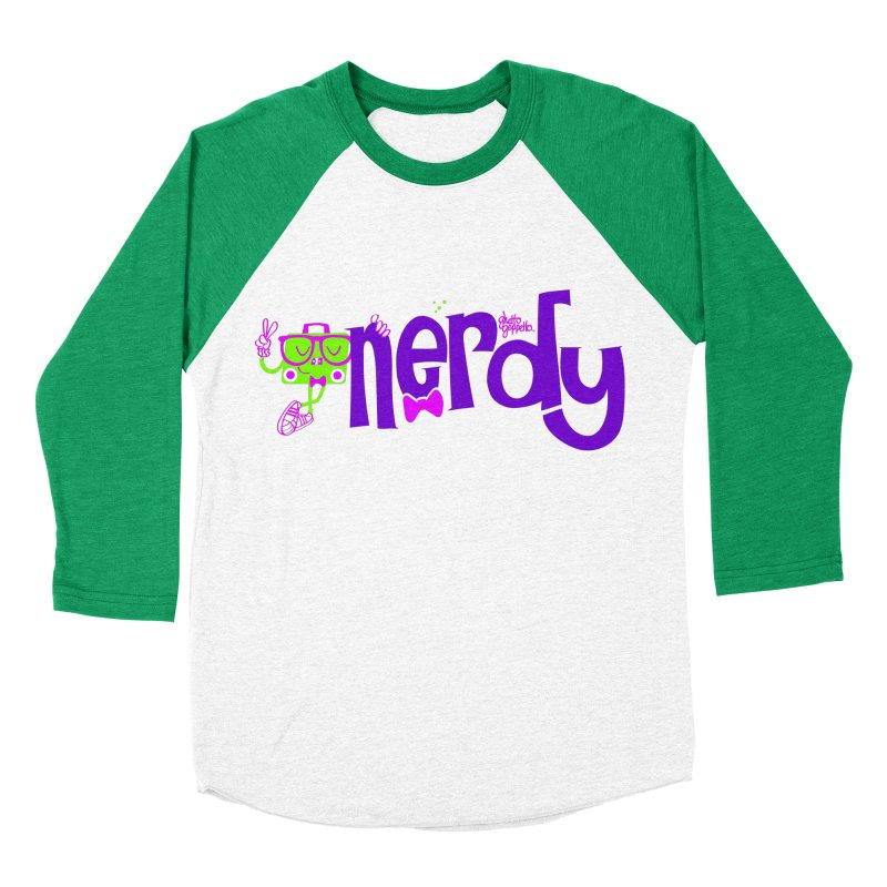 NERDY Men's Baseball Triblend Longsleeve T-Shirt by ghettogeppetto's Artist Shop