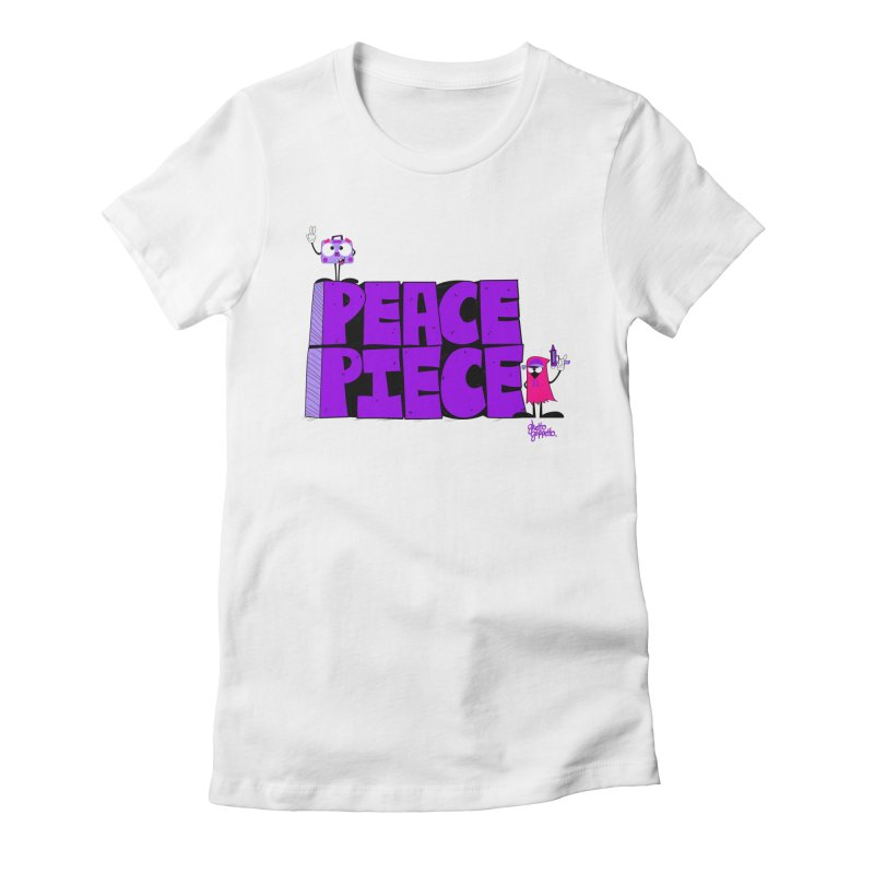 PEACE OR PIECE  Women's Fitted T-Shirt by ghettogeppetto's Artist Shop