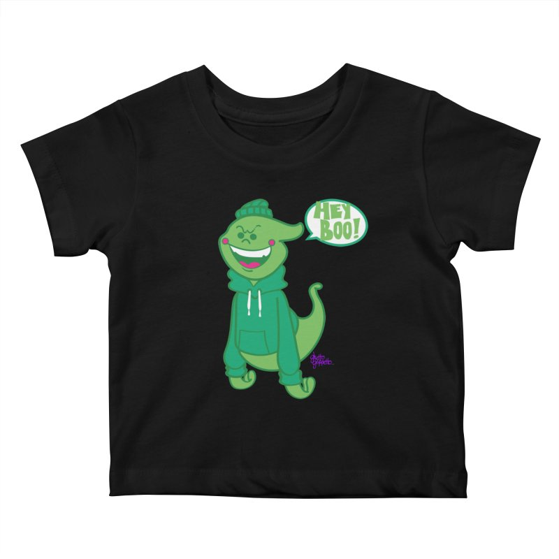 HEY BOO!! Kids Baby T-Shirt by ghettogeppetto's Artist Shop