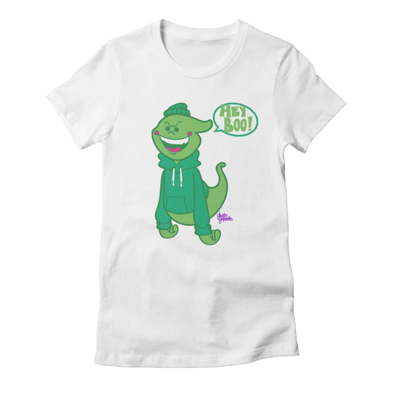 HEY BOO!! Women's T-Shirt by ghettogeppetto's Artist Shop