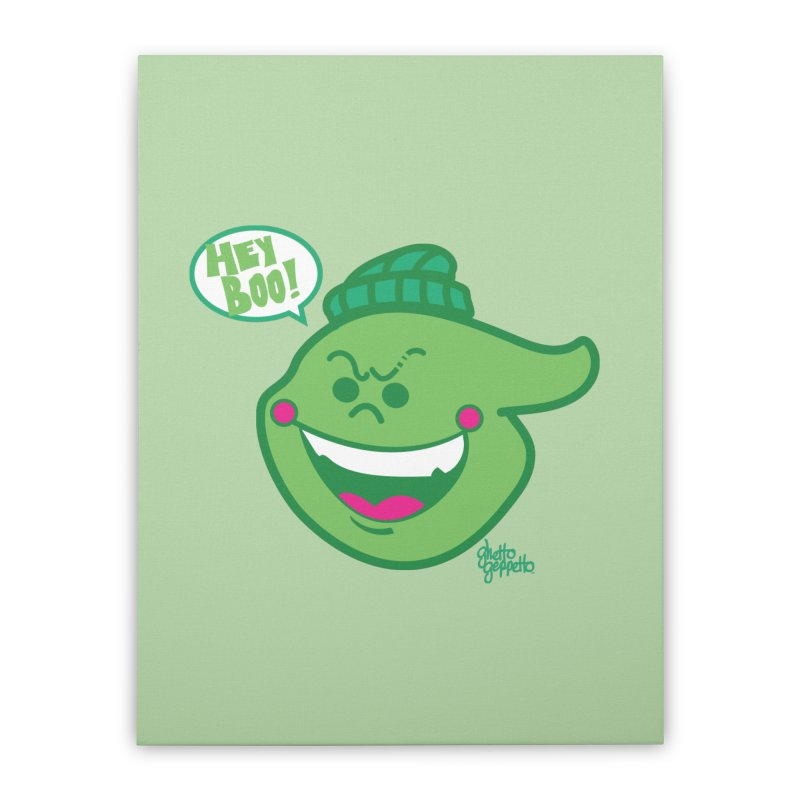 LIME Home Stretched Canvas by ghettogeppetto's Artist Shop