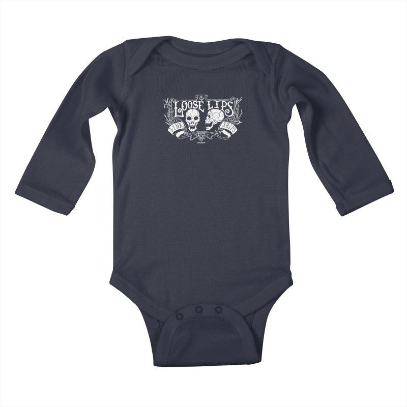 Loose Lips Sink Ships Kids Baby Longsleeve Bodysuit by GHOST ANCHOR BRAND