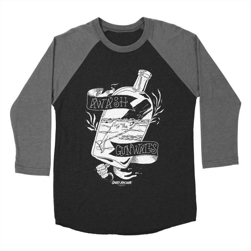 Awash to the Gunwales Men's Baseball Triblend Longsleeve T-Shirt by GHOST ANCHOR BRAND