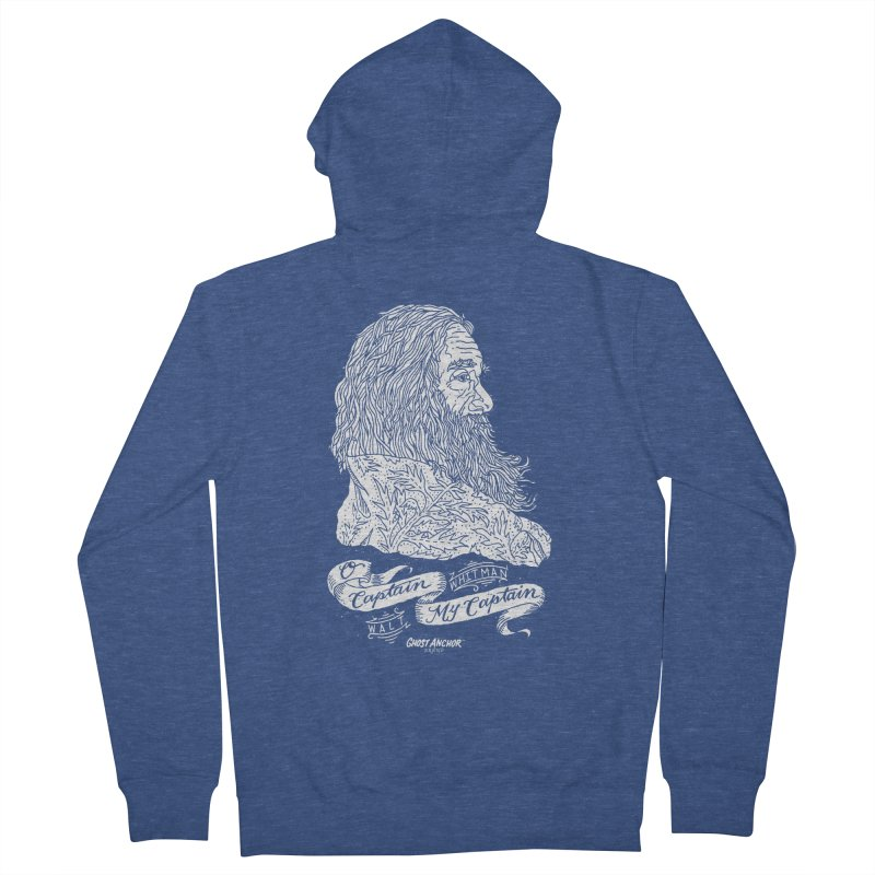 O Captain, my Captain! Women's French Terry Zip-Up Hoody by GHOST ANCHOR BRAND