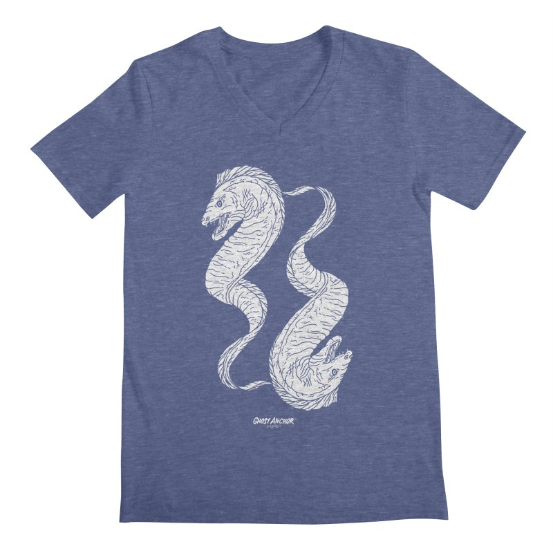 They're Electric!  Eels!!! Men's V-Neck by GHOST ANCHOR BRAND