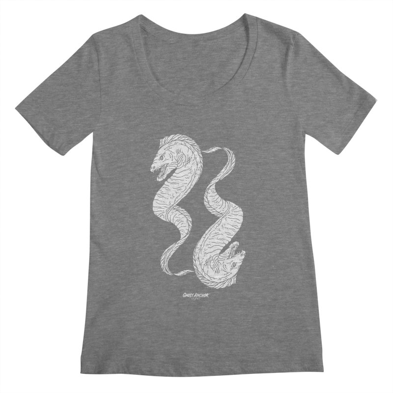 They're Electric!  Eels!!! Women's Scoopneck by GHOST ANCHOR BRAND