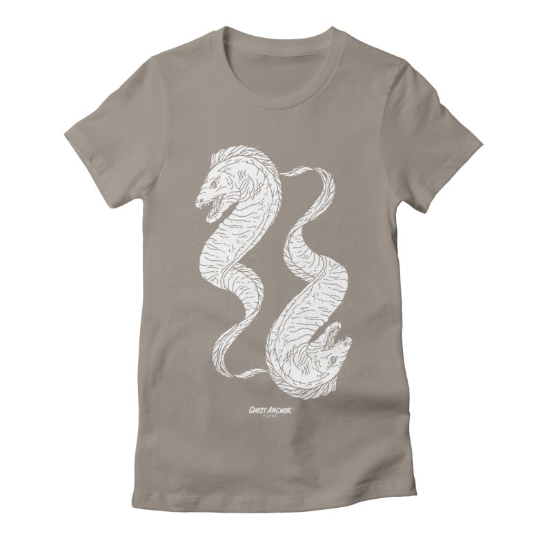 They're Electric!  Eels!!! Women's Fitted T-Shirt by GHOST ANCHOR BRAND