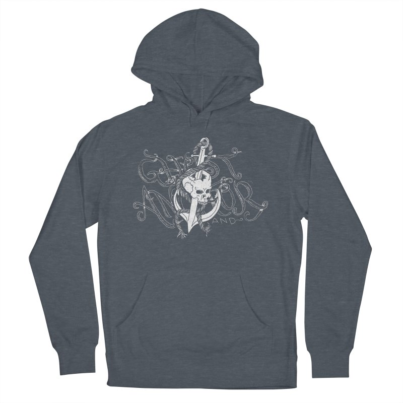 Ghost Anchor - Pierced Skull Logo Women's Pullover Hoody by GHOST ANCHOR BRAND