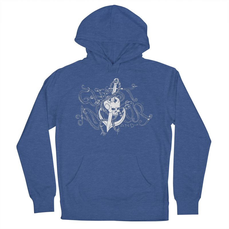 Ghost Anchor - Pierced Skull Logo Men's French Terry Pullover Hoody by GHOST ANCHOR BRAND
