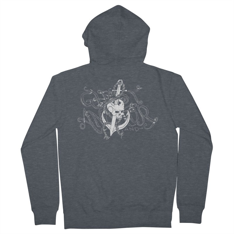 Ghost Anchor - Pierced Skull Logo Women's Zip-Up Hoody by GHOST ANCHOR BRAND