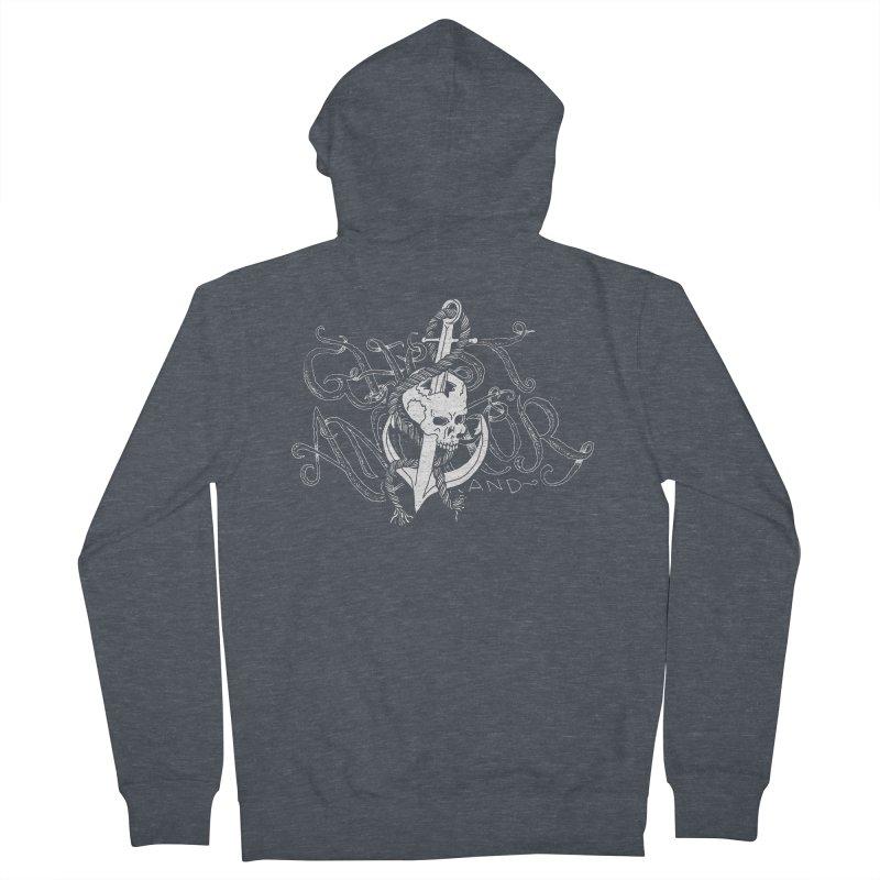 Ghost Anchor - Pierced Skull Logo Men's Zip-Up Hoody by GHOST ANCHOR BRAND