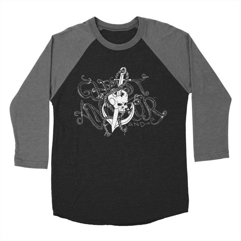 Ghost Anchor - Pierced Skull Logo Women's Baseball Triblend T-Shirt by GHOST ANCHOR BRAND