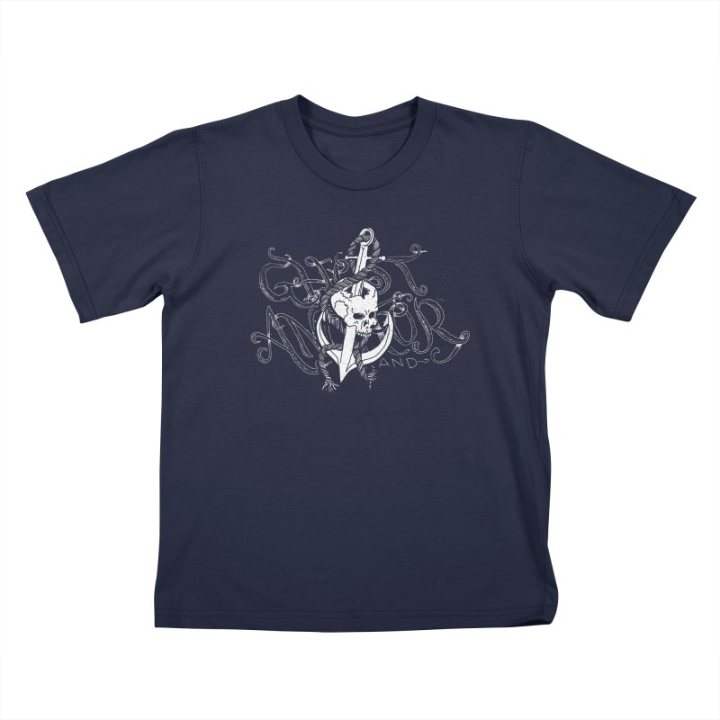 Ghost Anchor - Pierced Skull Logo Kids T-Shirt by GHOST ANCHOR BRAND