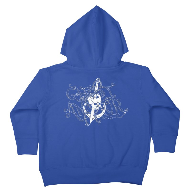 Ghost Anchor - Pierced Skull Logo Kids Toddler Zip-Up Hoody by GHOST ANCHOR BRAND