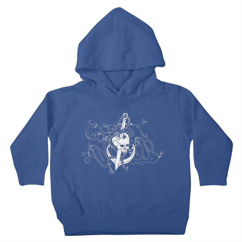 Ghost Anchor - Pierced Skull Logo Kids Toddler Pullover Hoody by GHOST ANCHOR BRAND