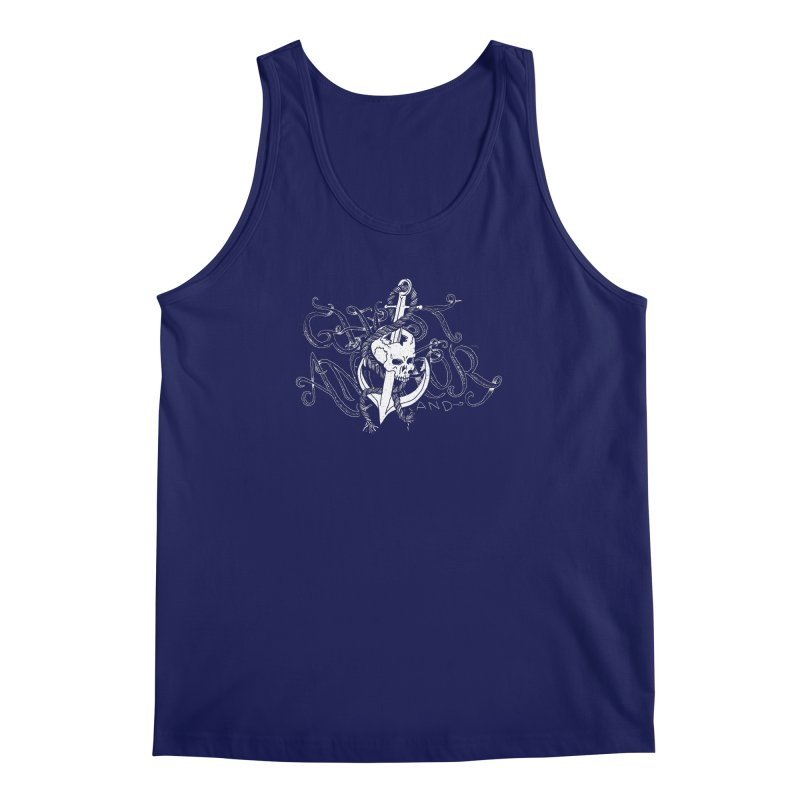 Ghost Anchor - Pierced Skull Logo Men's Regular Tank by GHOST ANCHOR BRAND