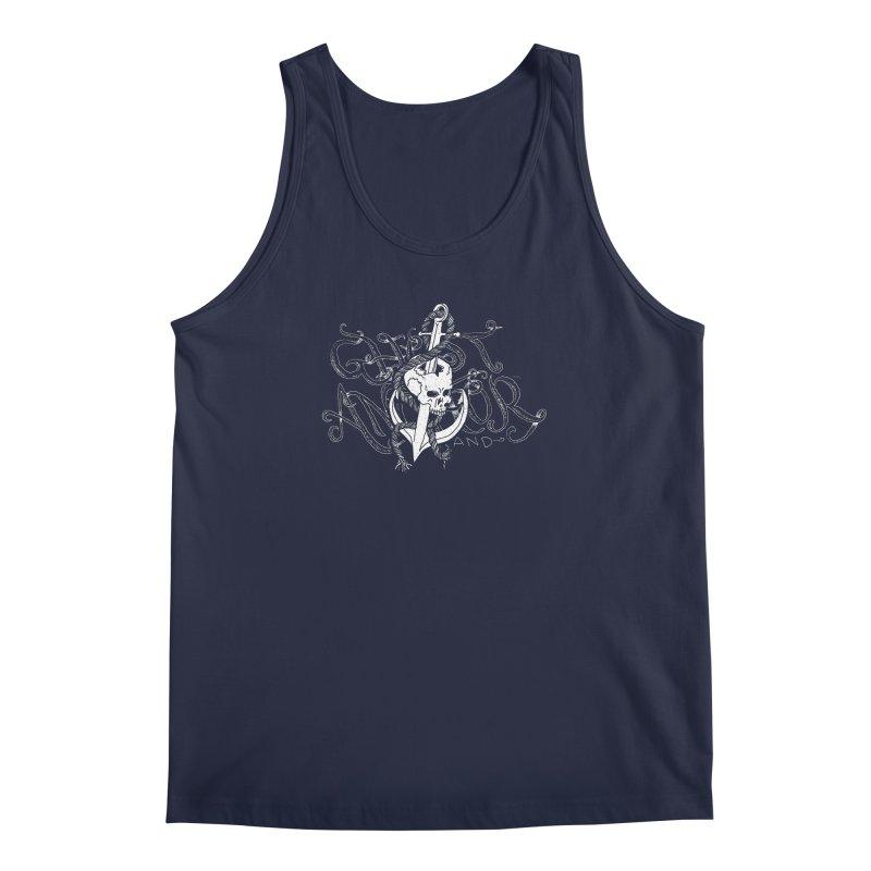Ghost Anchor - Pierced Skull Logo Men's Regular Tank by GHOST ANCHOR BRAND