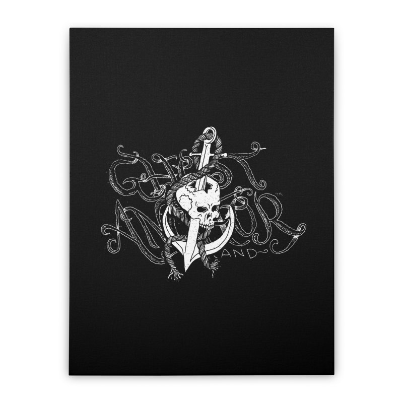 Ghost Anchor - Pierced Skull Logo Home Stretched Canvas by GHOST ANCHOR BRAND