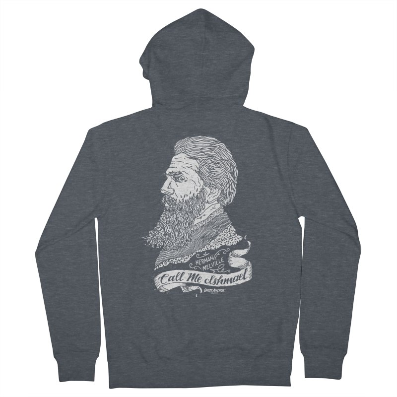 Call Me Ishmael Men's Zip-Up Hoody by GHOST ANCHOR BRAND