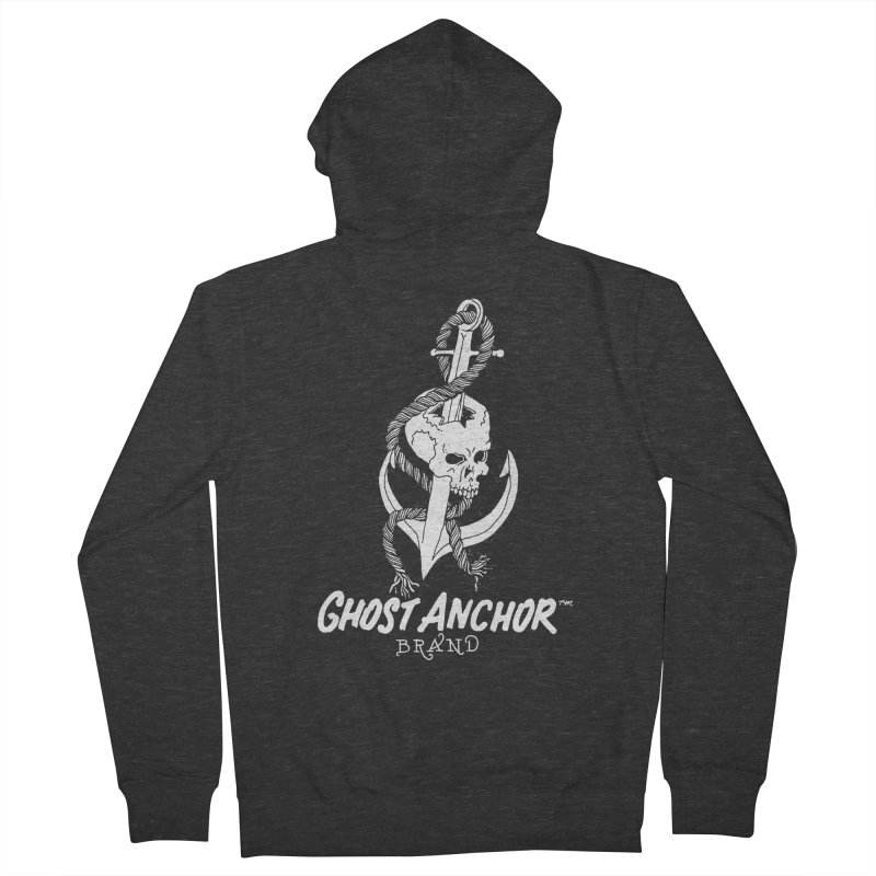 Ghost Anchor Long Logo Women's Zip-Up Hoody by GHOST ANCHOR BRAND