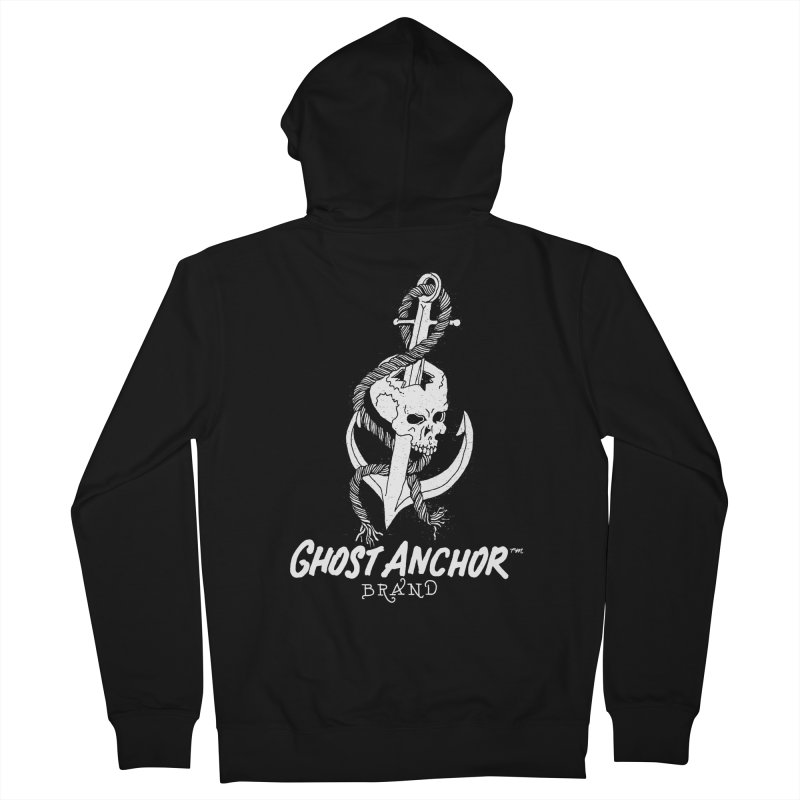 Ghost Anchor Long Logo Women's French Terry Zip-Up Hoody by GHOST ANCHOR BRAND