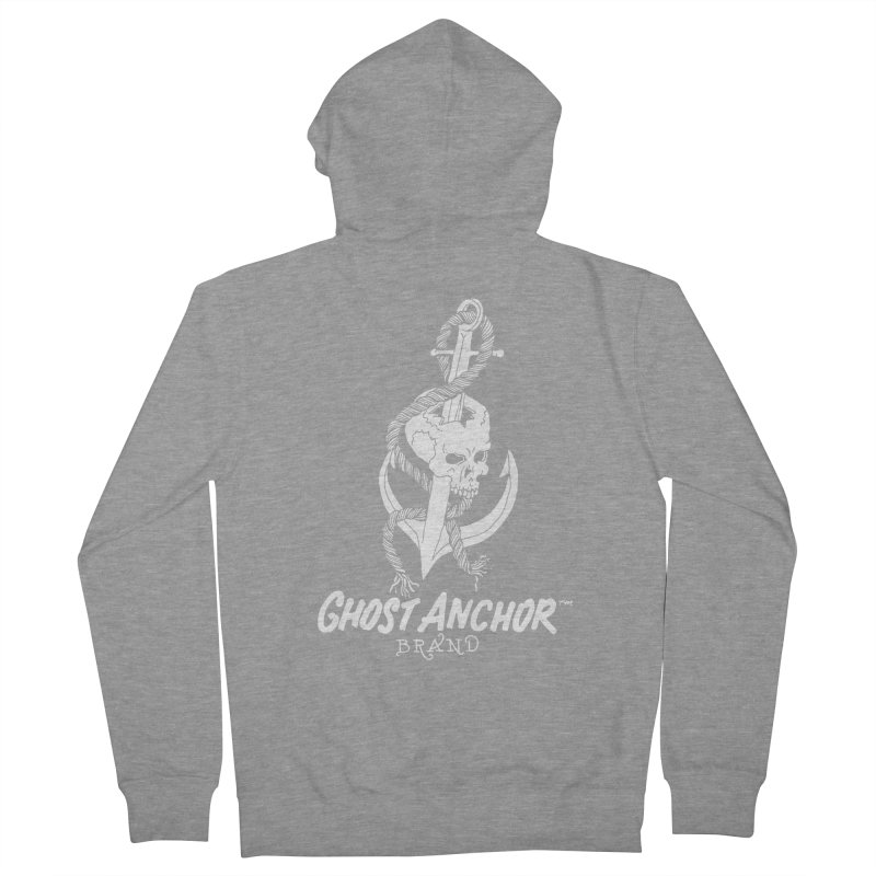 Ghost Anchor Long Logo Men's Zip-Up Hoody by GHOST ANCHOR BRAND