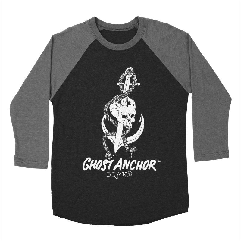 Ghost Anchor Long Logo Men's Baseball Triblend T-Shirt by GHOST ANCHOR BRAND