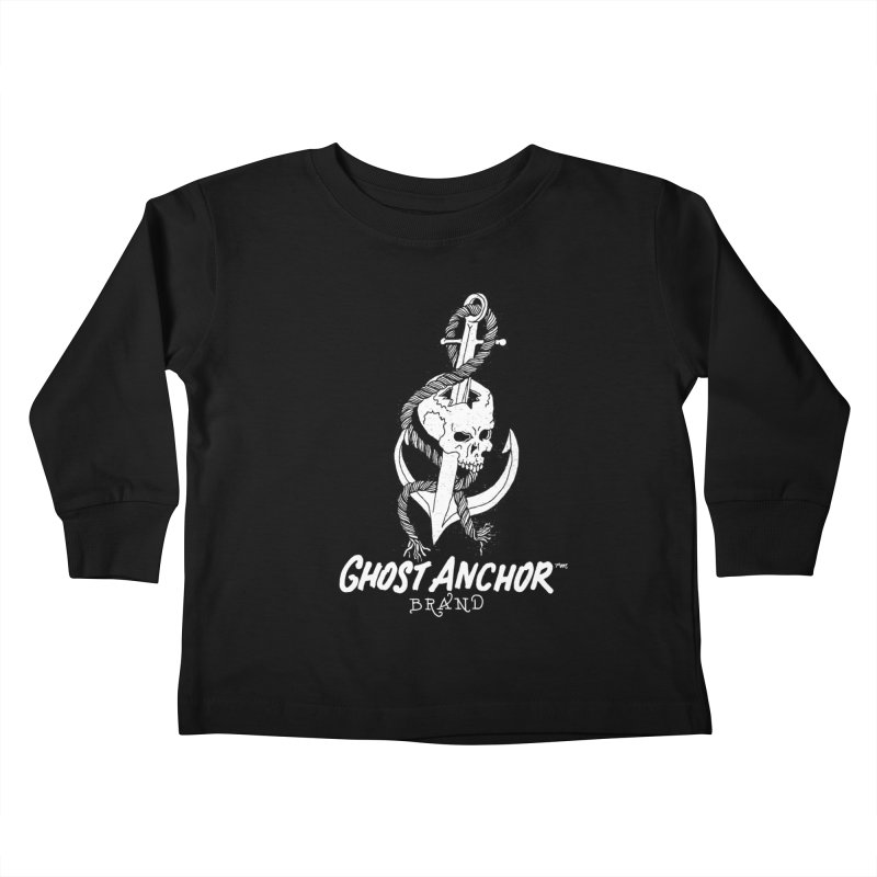 Ghost Anchor Long Logo Kids Toddler Longsleeve T-Shirt by GHOST ANCHOR BRAND