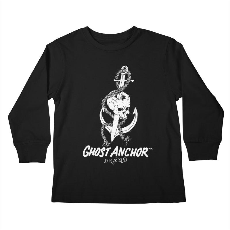 Ghost Anchor Long Logo Kids Longsleeve T-Shirt by GHOST ANCHOR BRAND