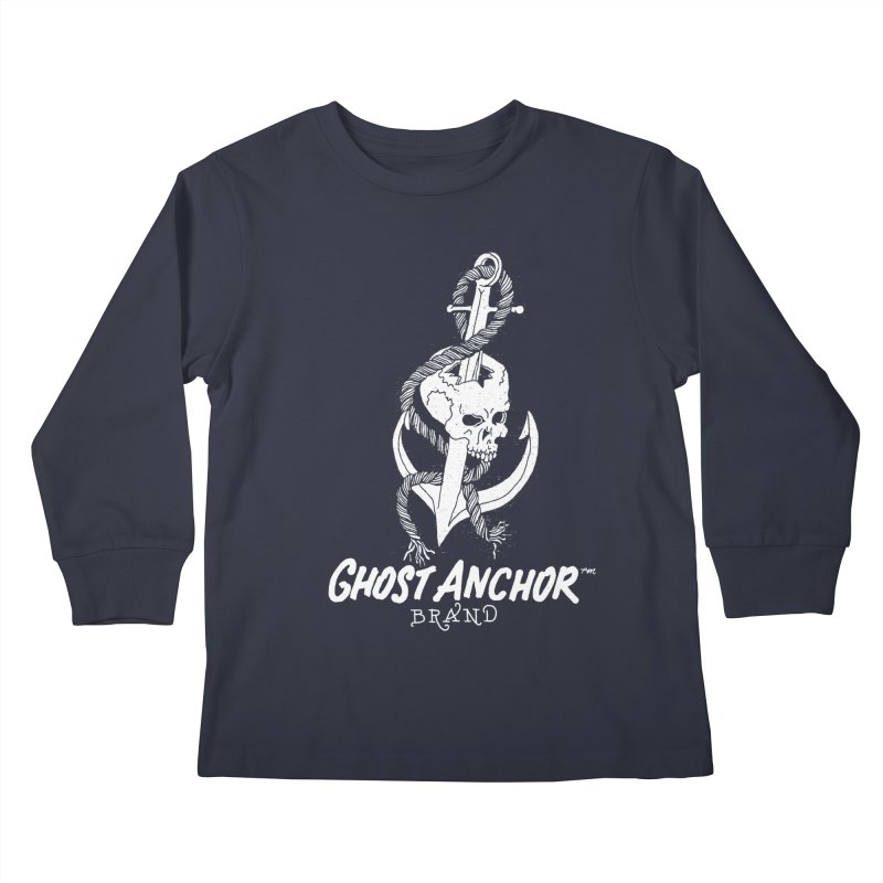Ghost Anchor Long Logo Kids Longsleeve T-Shirt by GHOST ANCHOR BRAND