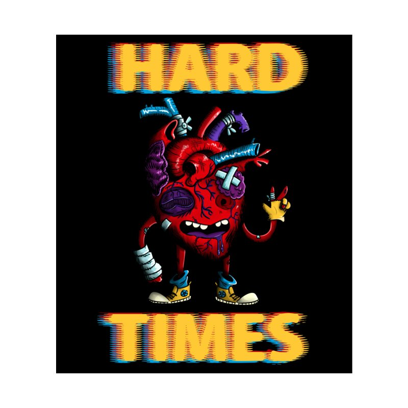 Hard Times...With a Smile Men's T-Shirt by Art by Ash Walsh