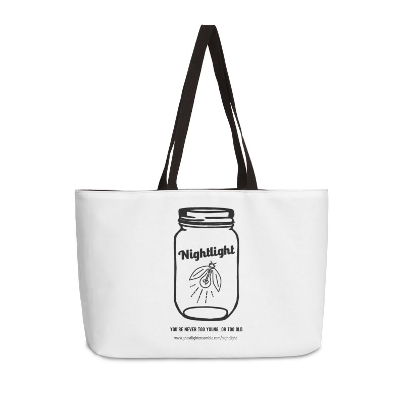 Nightlight Accessories Weekender Bag Bag by Ghostlight Ensemble's Artist Shop