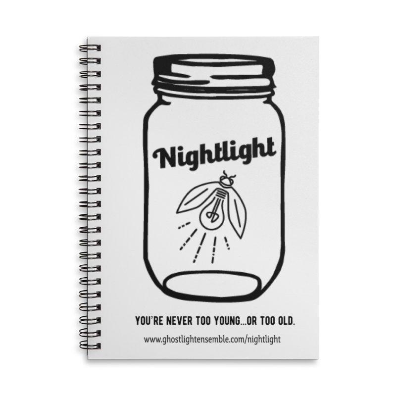 Nightlight Accessories Lined Spiral Notebook by Ghostlight Ensemble's Artist Shop