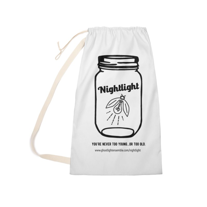 Nightlight Accessories Laundry Bag Bag by Ghostlight Ensemble's Artist Shop