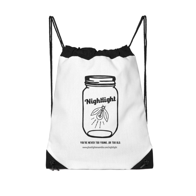 Nightlight Accessories Drawstring Bag Bag by Ghostlight Ensemble's Artist Shop