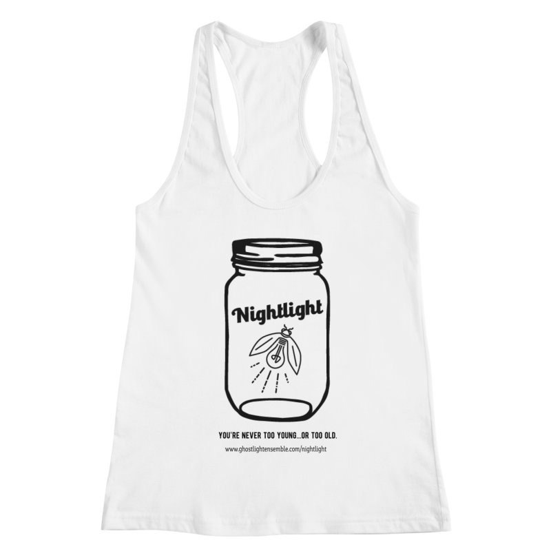 Nightlight Women's Racerback Tank by Ghostlight Ensemble's Artist Shop