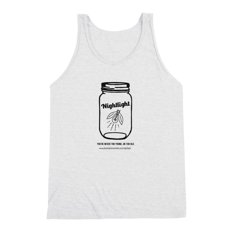 Nightlight Men's Triblend Tank by Ghostlight Ensemble's Artist Shop