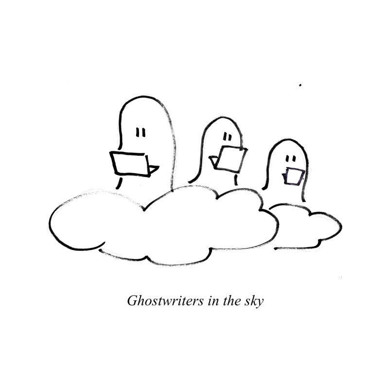 Ghostwriters in the sky Kids T-Shirt by chalkmotion's Shop