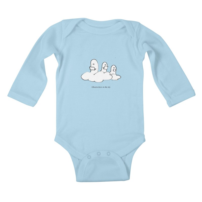 Ghostwriters in the sky Kids Baby Longsleeve Bodysuit by chalkmotion's Shop