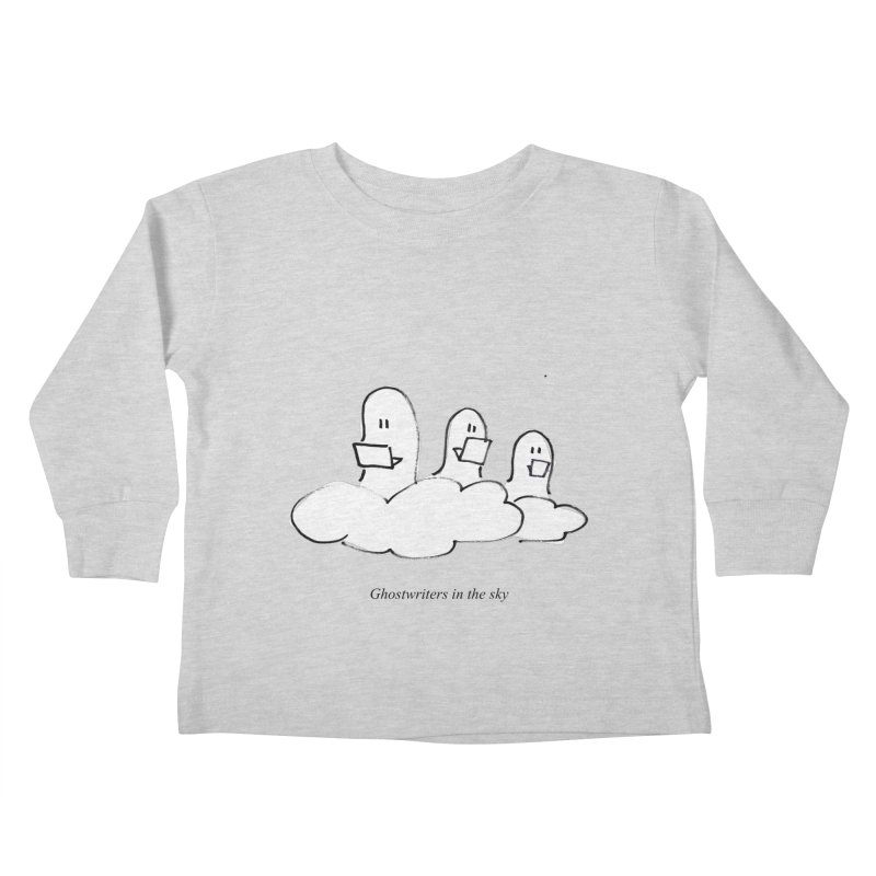 Ghostwriters in the sky Kids Toddler Longsleeve T-Shirt by chalkmotion's Shop